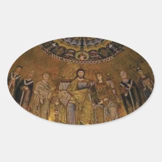 Church dome arch temple oval sticker