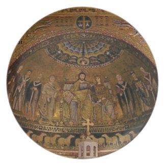 Church dome arch temple plate
