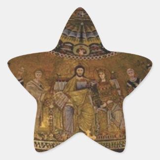 Church dome arch temple star sticker
