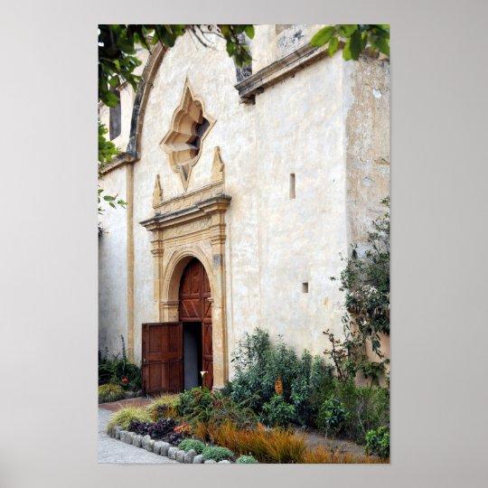 Church Door at Mission San Carlos Poster