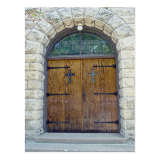 Church Doorway Postcard