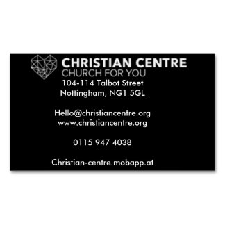 Church for You Business Card Magnet