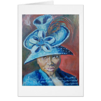 Church Hat Chey greeting card