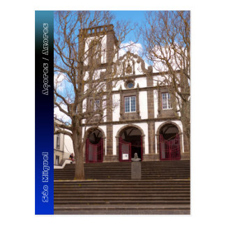 Church in Azores islands Postcard