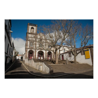 Church in Azores Poster