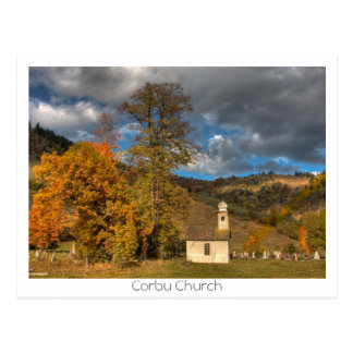 Church in Corbu Postcard
