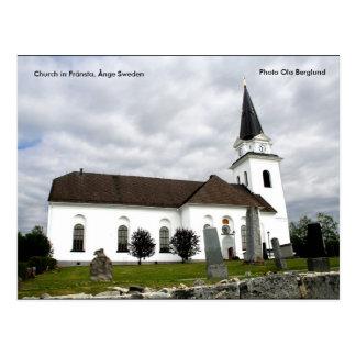 Church in Fränsta, Ånge Sweden, ... Postcard