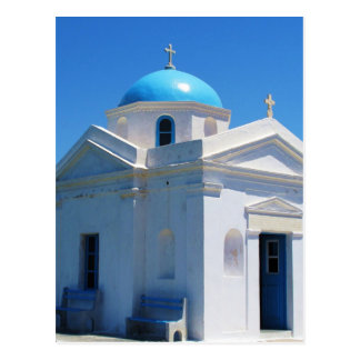 Church in Mykonos Postcard