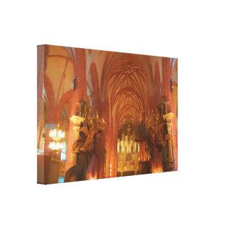 Church in Scandinavia Canvas Print