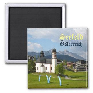 Church in Seefeld, Austria text magnet