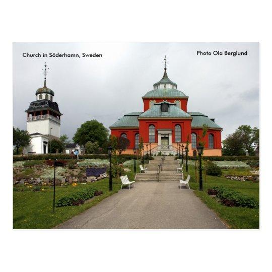 Church in Söderhamn, Sweden, Pho... Postcard