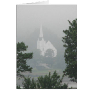Church in the Mist Card
