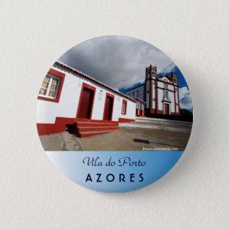 Church in Vila do Porto 2 Inch Round Button