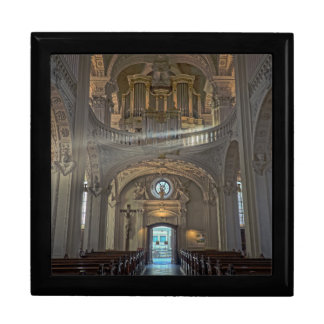 Church interior architectural building gift box