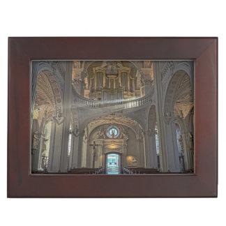 Church interior architectural building keepsake box