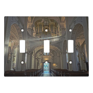 Church interior architectural building light switch cover