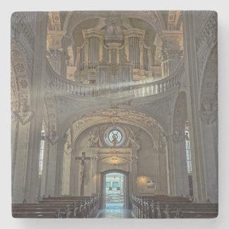 Church interior architectural building stone coaster
