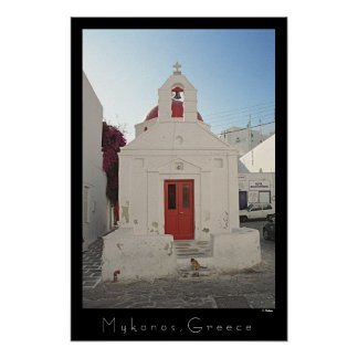 Church Kitty - Mykonos Poster