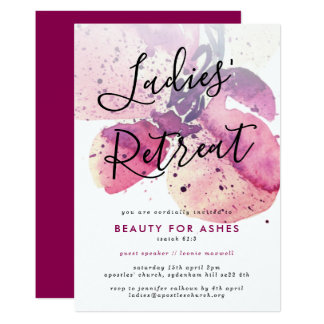 Church Ladies Retreat/Conference/Event Invitation