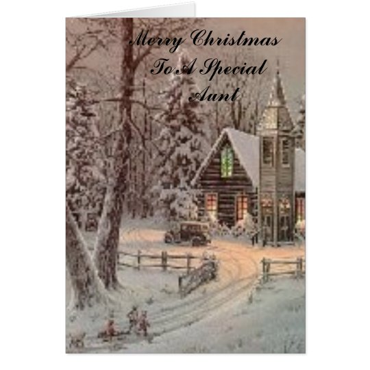 church, Merry Christmas  To A Special     Aunt Card