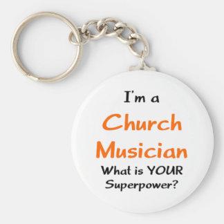 church musician keychain