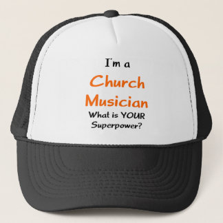 church musician trucker hat