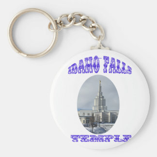 Church of Jesus Christ of Latter Day Saints Temple Basic Round Button Keychain