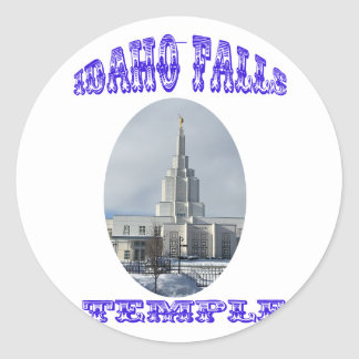 Church of Jesus Christ of Latter Day Saints Temple Classic Round Sticker