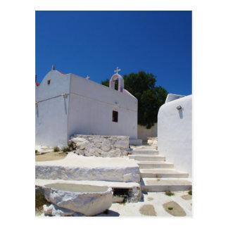 Church of Mykonos Island Greece Postcard