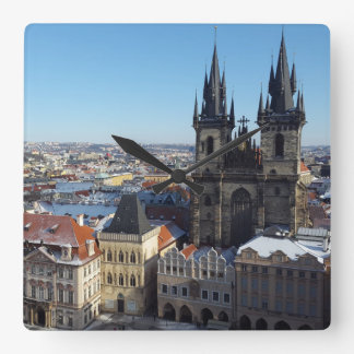 Church of Our Lady before Týn, Prague Cushion Square Wall Clock