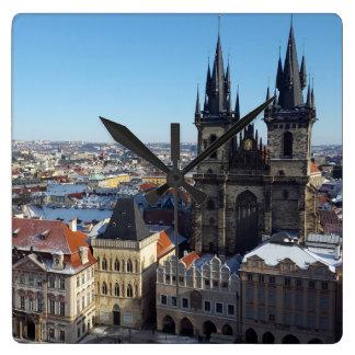 Church of Our Lady before Týn, Prague Cushion Square Wall Clock