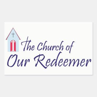 Church of Our Redeemer Rectangular Sticker