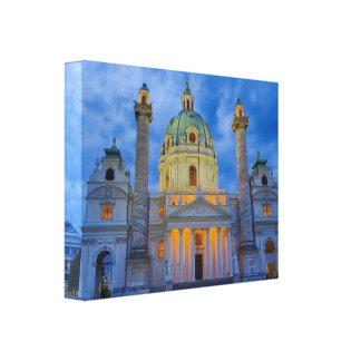 Church of Saint Charles, Vienna Canvas Print