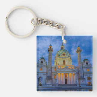 Church of Saint Charles, Vienna Double-Sided Square Acrylic Keychain