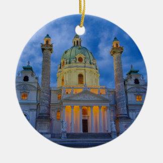 Church of Saint Charles, Vienna Round Ceramic Ornament