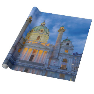 Church of Saint Charles, Vienna Wrapping Paper