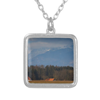 Church of Saint James in the village of Hrase, Slo Silver Plated Necklace