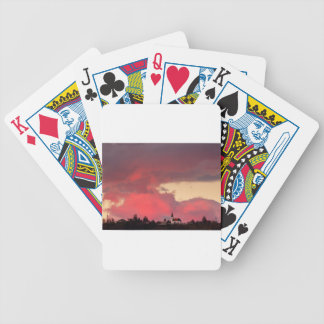 Church of Saint Nicholas at sunset Bicycle Playing Cards
