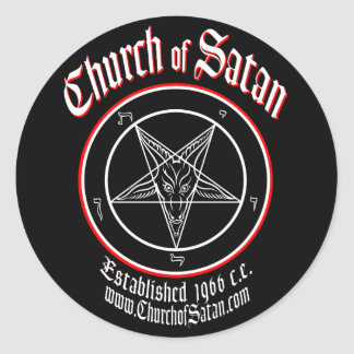 Church of Satan Decal Set Classic Round Sticker