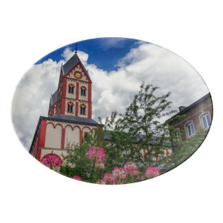 Church of St. Bartholomew, Liege, Belgium Porcelain Serving Platter