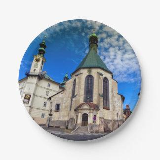 Church of St. Catherine, Banska Stiavnica,Slovakia Paper Plate
