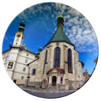 Church of St. Catherine, Banska Stiavnica,Slovakia Plate