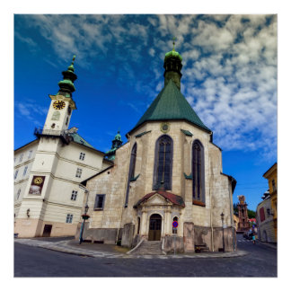Church of St. Catherine, Banska Stiavnica,Slovakia Poster