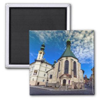 Church of St. Catherine, Banska Stiavnica,Slovakia Square Magnet