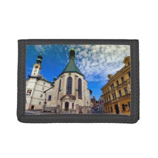 Church of St. Catherine, Banska Stiavnica,Slovakia Trifold Wallets