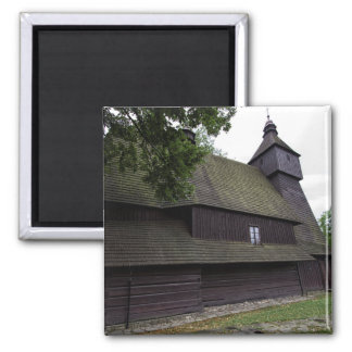 Church of St Francis Assisi - Hervartov - Slovakia Square Magnet