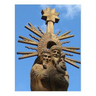 Church of St. George Statue, Vilkija, LITHUANIA - Postcard