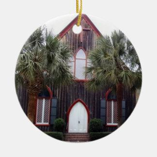 Church of the Cross - Bluffton, South Carolina Round Ceramic Ornament