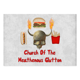 Church Of The Heathenous Glutton Large Business Card