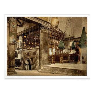 Church of the nativity (interior), Bethlehem, Holy Postcard